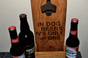 Wall Mounted Bottle Opener Dog Beers